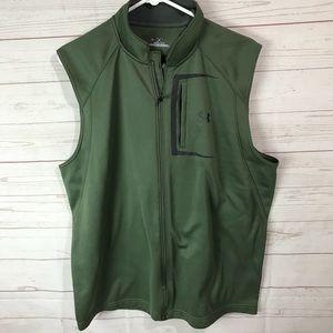 Under Armour Cold Gear Sweatshirt Vest green L